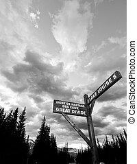 Lake Louise Signpost