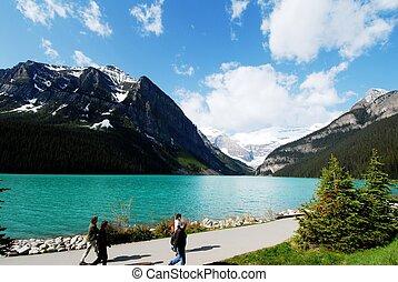 Lake Louise,Canadian Rockies,Canada - Lakeside of Lake...