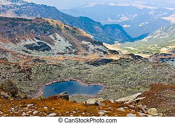 Lake Mandra in Parang mountains