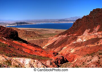 Lake Mead on the Arizona Nevada border