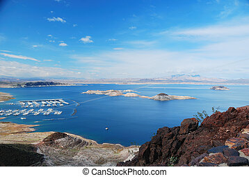 Lake Mead panorama - Lake mead panorama on Colorado River. ...