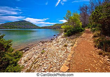 Lake Mir in Telascica bay nature park on Dugi Otok island, Dalmatia archipelago of Croatia