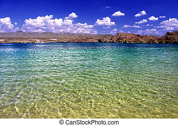 Lake Mohave Landscape Nevada - Lake Mohave beach on the...