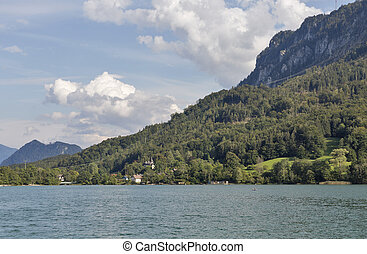 Lake Mondsee in Austrian Alps