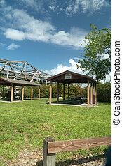 Boat ramp and recreation area at Lake Monroe Wayside Park Seminole Florida