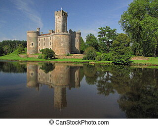 Lake, Montbrun Castle, tower