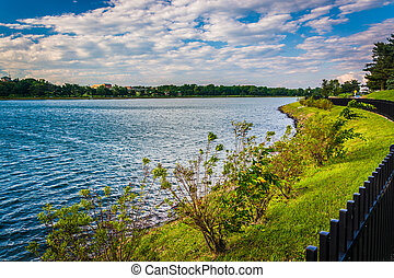 Lake Montebello, in Baltimore, Maryland.