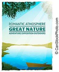 Lake Nature Landscape Background Poster