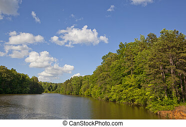 Lake Norman Cove - A cove on Lake norman in the Piedmont of...