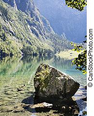 Lake Obersee in Berchtesgaden, Bavaria, Germany