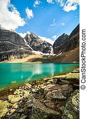 Lake Oesa in Yoho National Park, British Columbia, Canada