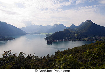 Lake of Annecy in France