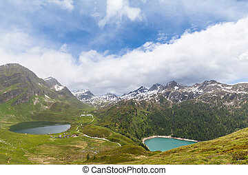 Lake of Cadagno and Ritom in Ticino, Switzerland - Panorama ...