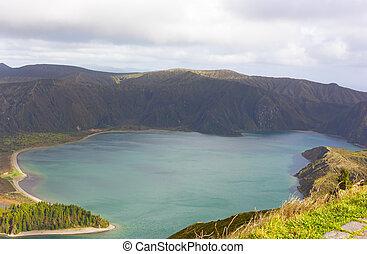 Lake of Fire (Lagoa do Fogo) on Sao Miguel Island, Azores, Portugal.