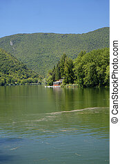 Lake of Piediluco (Umbria, Italy) at summer