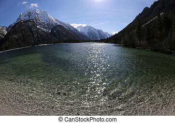 lake of Predil in Northen Italy near Tarvisio town