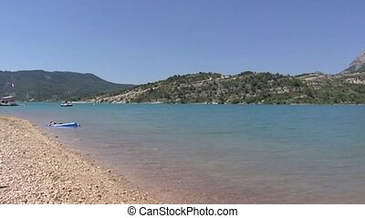 Lake of Sainte-Croix in France, Provence - pan