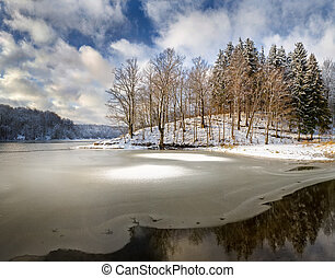Lake of the Woods - winter landscape