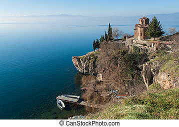 Lake Ohrid, Republic of Macedonia (FYROM) - View of Lake...