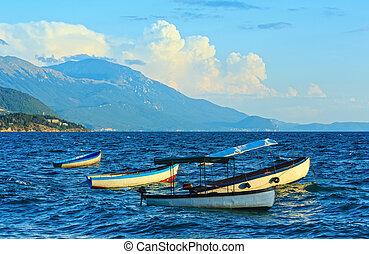 Lake Ohrid summer view.