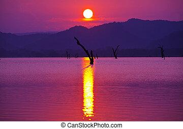 Lake on Sri Lanka