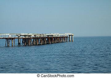 Lake ontario with Long Dock