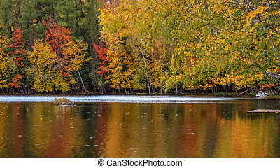 Lake Ouimet near Mont Tremblant in Quebec.