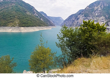 Lake Piva in the mountains