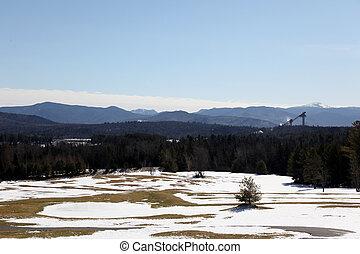 lake placid ski jump2 - panoramic view of the skijump in ...