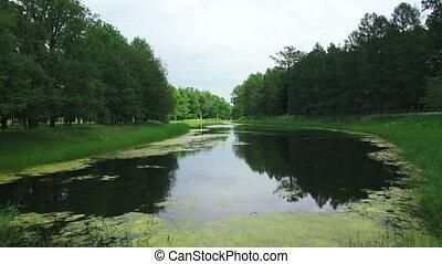 Lake, pond. Pushkin. Catherine Park. Tsarskoye Selo.