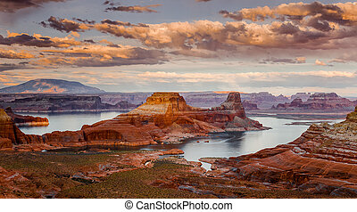 Lake Powell-the second largest man-made lake in the United States is the playground for Page, Arizona, and nearly three million visitors annually.