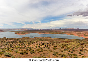 Lake Powell from the Glen Canyon Dam