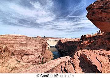 Lake Powell Glen Canyon Dam near Page Arizona