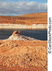 Lake Powell in a beautiful day
