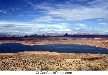 Lake Powell landscape, USA