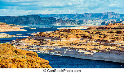 Lake Powell the second largest man-made lake in the United States