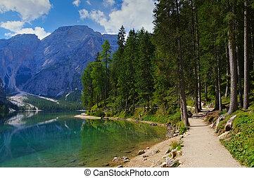 Lake Prags in italian Alps