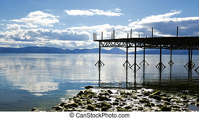 Lake Prespa, in Macedonia, image of a