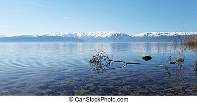 lake prespa in north macedonia, image