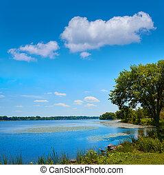 Lake Quannapowitt in Wakefield near Boston