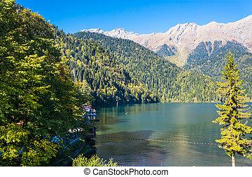 Lake Ritsa, Abkhazia.