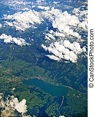 Lake Sarnersee, Switzerland - aerial view