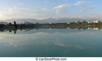 Lake Sayran. Almaty, Kazakhstan.