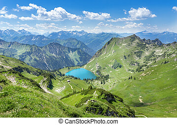 Lake Seealpsee in the Allgau Alps