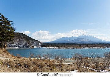 Lake Shoji with mt. Fuji