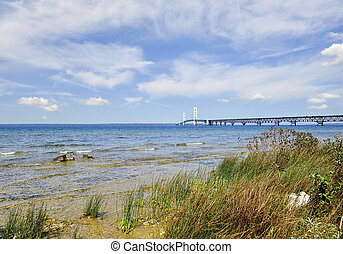 Lake shore of Mackinac