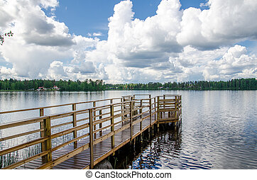 Lake shore.
