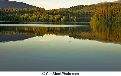 Lake silence.