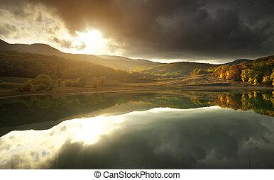 lake., sol