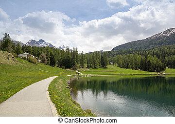 Lake St. Moritz , Switzerland.